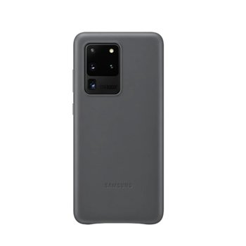 Калъф за Samsung Galaxy S20 Ultra, кожен, сив image