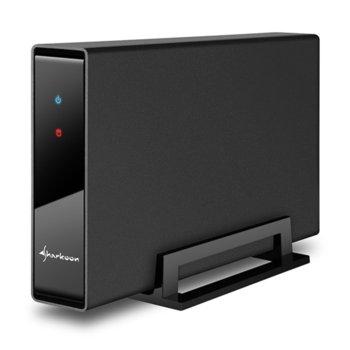 """Кутия 3.5""""(8.9 cm), Sharkoon Swift Case Pro USB 3.0, за 3.5"""" SATA I/II/III SSD/HDD, USB 3.0, метална, черна image"""