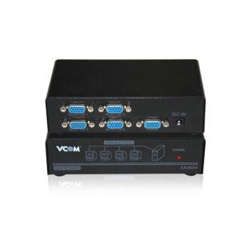 Сплитер VCom DD134, 1x D-Sub вход към 4x D-Sub изхода image