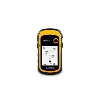 """Ръчна навигация Garmin eTrex 10, 2.2""""(5.6 cm) дисплей, до 25 часа време за работа, USB, IPX7 водоустойчивост, основна карта image"""