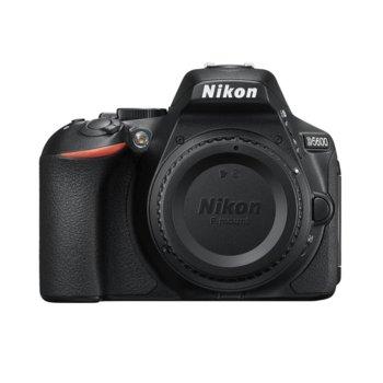 """Фотоапарат Nikon D5600 в комплект с обективи Nikon AF-P 18-55mm VR и AF-P DX NIKKOR 10-20mm f/4.5-5.6G VR, 24.2 Mpix, 3.2"""" (8.13 cm) TFT сензорен дисплей, Wi-Fi/NFC, Bluetooth 4.1, SDXC слот, HDMI Type C, microUSB image"""