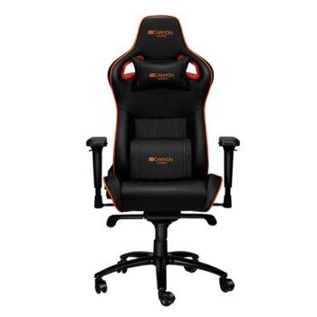 Геймърски стол Canyon Corax CND-SGCH5, до 180 кг., черен/оранжев image