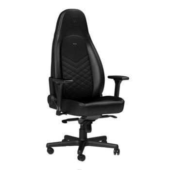 Геймърски стол noblechairs ICON, еко кожа, алуминиева база, 4D подлакътници, до 150 кг, черен image