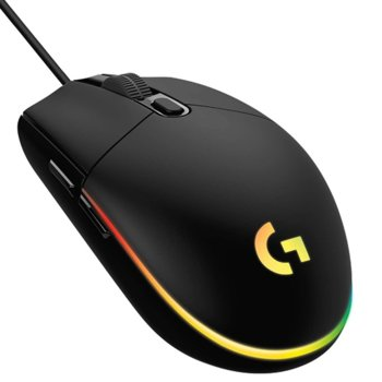 Мишка Logitech G203, оптична (8000 dpi), USB, гейминг, RGB подсветка, черна image
