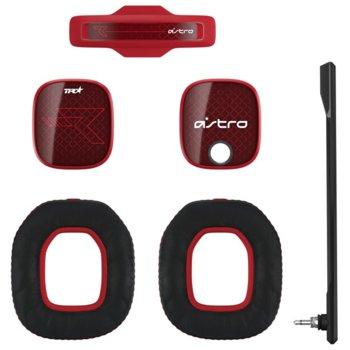 Аксесоари за слушалки Astro A40 TR Mod Kit (939-001545), включва звукоизолиращ микрофон / подплатена лента за глава / шумоизолиращи възглавици / силиконови прегради, червени image