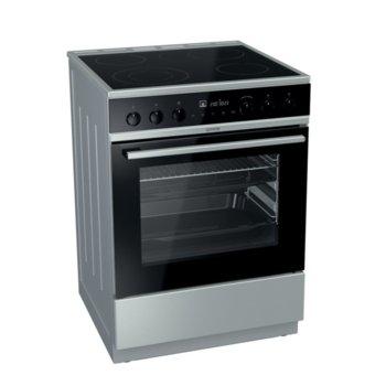 Готварска печка Gorenje EC6565XPA, клас A+, 4 стъклокерамични нагревателни зони, 67 л. обем, eко функция, водно почистване, FastPreheat функция, инокс  image