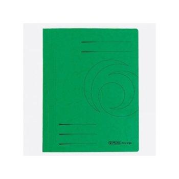 Папка от картон Herlitz Easyorga, с машинка, зелена image