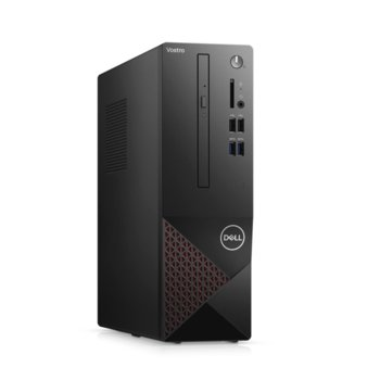 Настолен компютър Dell Vostro 3681 SFF (N502VD3681EMEA01_2101_UBU), четириядрен Comet Lake Intel Core i3-10100 3.6/4.3 GHz, 4GB DDR4, 256GB SSD, 4x USB 3.2 Gen 1, клавиатура и мишка, Linux  image