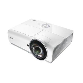 Проектор Vivitek DX881ST, DLP, 3D Ready, XGA (1024x768), 15000:1, 3300 lm, 2x HDMI, 2x VGA, RJ-45, USB, бял image