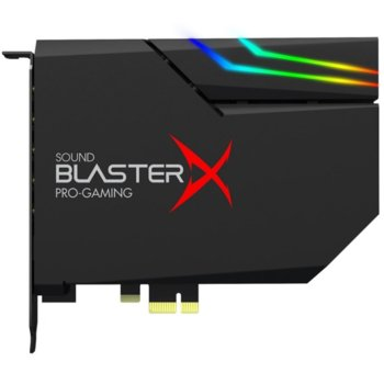 Звукова карта Creative Sound BlasterX AE-5, 7.1, PCI-E, DAC + RGB Aurora Lighting, 5x 3.5мм жака image