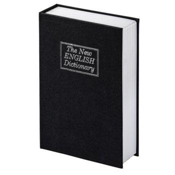 Сейф тип книга Hama BS-180, 11,5 x 5.5 x 18 cm, черен image