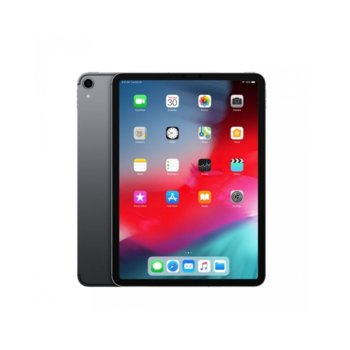"Таблет Apple iPad Pro (2018)(MTXN2HC/A)(сив), 11"" (27.94 cm) Liquid Retina дисплей, осемядрен A12X Bionic, 4GB RAM, 64GB Flash памет, 12.0 & 7.0 MPix камера, iOS 12, 468g image"