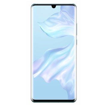 """Смартфон Huawei P30 Pro (Breathing Crystal), поддържа 2 sim карти, 6.47"""" (16.43 cm) FHD+ OLED дисплей, осемядрен Kirin 980 2.6GHz, 8GB RAM, 256GB Flash памет (+nano слот), 40.0MPix + 20.0MPix + 8.0MPix & 32.0 MPix камера, Android, 192g image"""