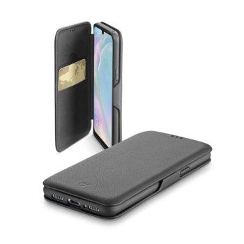 Калъф за Huawei P30 Lite, синтетична кожа, Cellularline Book Clutch, черен image