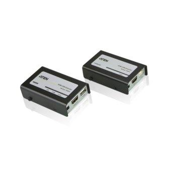 KVM екстендър ATEN VE803, от HDMI(ж), USB B(ж) към HDMI(ж), USB A(ж) чрез Cat 5e кабел(4x RJ-45), до 40м, до 1920x1200 резолюция, 2 устройства image