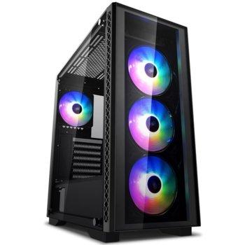 Кутия DeepCool MATREXX 50 ADD-RGB 4F, ATX, 1 x USB3.0, RGB, черна, без захранване image