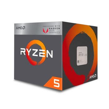 Процесор AMD Ryzen 5 2400G, четириядрен (3.6/3.9GHz, 4MB, 1250Mhz GPU, AM4) BOX, с охлаждане Wraith Stealth image