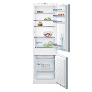 Хладилник с фризер Bosch KGF56SB40, клас A++, 255 л. общ обем, за вграждане, 222 kWh/годишно, NoFrost, FreshSense, Електронно регулиране на температурата, LED осветление image