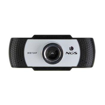 Уеб камера NGS Xpresscam720, 1280x720 / 30FPS, микрофон, USB, сива image