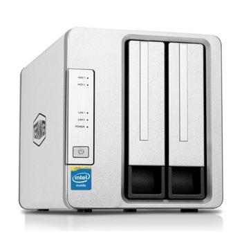 Мрежови диск (NAS) TerraMaster F2-420 (F2-420/2X4TB), четириядрен Intel Celeron J1900 2.00GHz/2.42GHz, 4 GB RAM, 2x 4TB Seagate NAS HDD, 2x RJ-45, USB 3.0, USB 2.0, Tower image