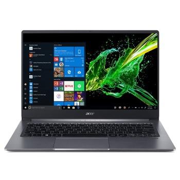 "Лаптоп Acer Swift 3 SF314-57G-74YS (NX.HUEEX.007)(сребрист), четириядрен Ice Lake Intel Core 1.3/3.9 GHz, 14.0"" (35.56 cm) Full HD IPS Anti-Glare Display & MX350 2GB, (HDMI), 8GB DDR4, 512GB SSD, 1x USB Type-C, Windows 10 Pro image"