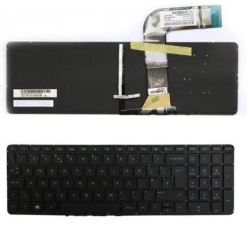 Клавиатура за лаптоп HP, съвместима със серия Pavilion 15-P 17-F черна, няма рамка, UK, с подсветка image