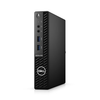 Настолен компютър Dell OptiPlex 3080 MFF (N011O3080MFFEM_UBU), четириядрен Comet Lake Intel Core i3-10100T 3.0/3.8 GHz, 8GB DDR4, 256GB SSD, 4x USB 3.2 Gen 1, клавиатура и мишка, Linux image