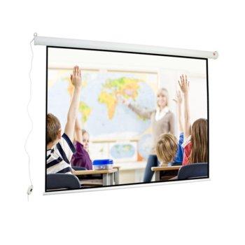 """Екран Avtek Wall Electric 240, електрически за стена или таван, Matt White, 2450 x 1880 мм, 118"""", 4:3 image"""