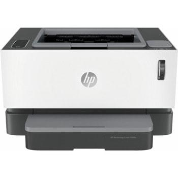 Лазерен принтер HP Neverstop Laser 1000n, монохромен, 600 x 600 dpi, 21 стр/мин, USB, LAN, А4, зареден с тонер за 5000 страници image