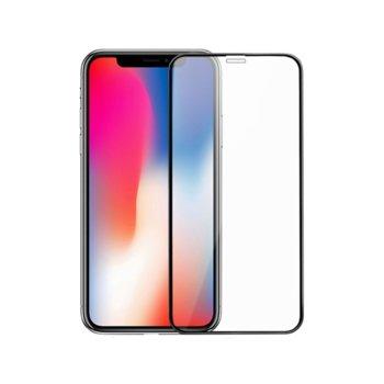 Протектор от закалено стъкло /Tempered Glass/ DeTech 5D Full Glue, 0.3mm, за Apple iPhone 11 image