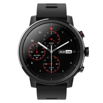 """Смарт часовник Xiaomi Amazfit Stratos+, 1.34"""" (3.40 cm) дисплей, до 5 дни работа, черен image"""