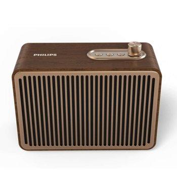 Тонколона Philips TAVS500, 1.0, 10W RMS, Bluetooth, 3.5 mm jack, USB, кафява  image