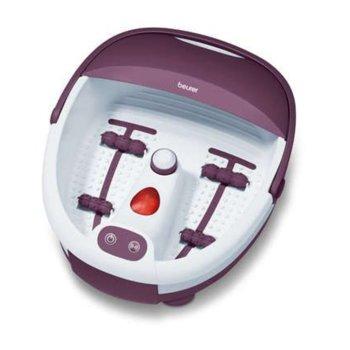 Хидромасажна вана Beurer FB 21, за ходила, 3 функции, инфрачервени светлини, вибриращ / въздушен масаж, бял/лилав image