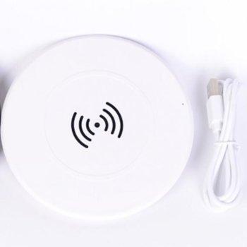Безжично зарядно TEL CHARGER WIRELESS WP-01 White, 5V, 2000mA, бял image