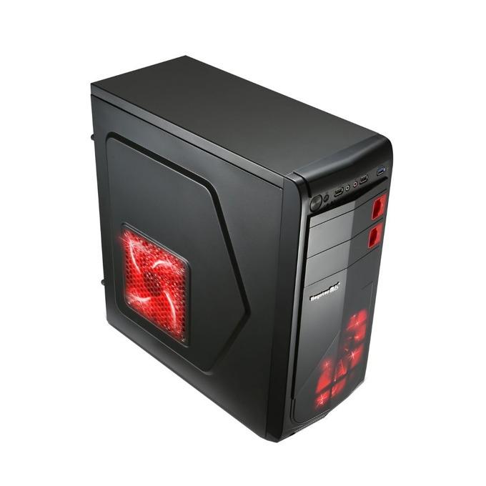 Кутия Segotep Racing, ATX/mATX, 2x USB 2.0, черна, без захранване image