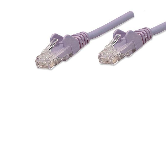 Пач кабел Intellinet, UTP, Cat.5e, 0,5m, лилав image