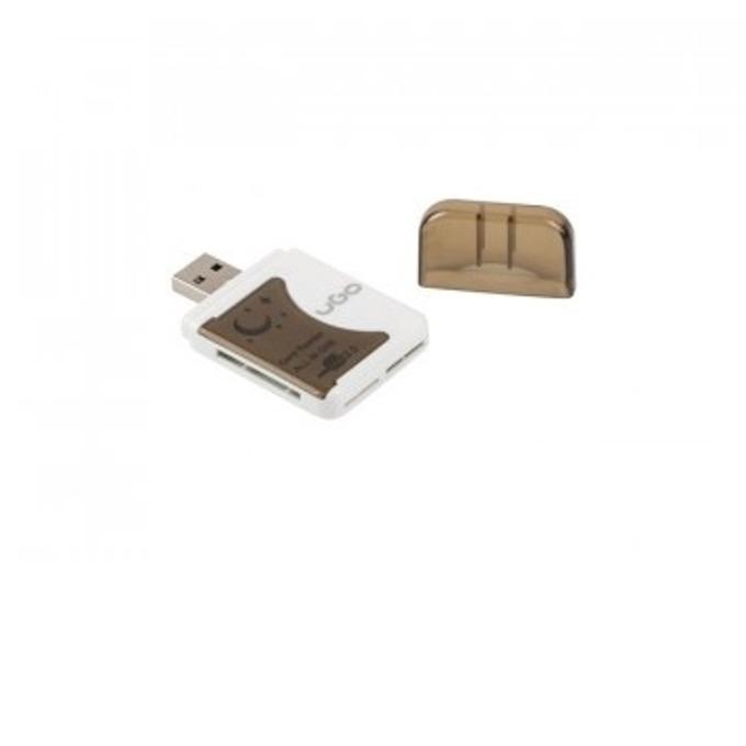 Четец за карти uGo UCZ-1006, USB 2.0, бял image