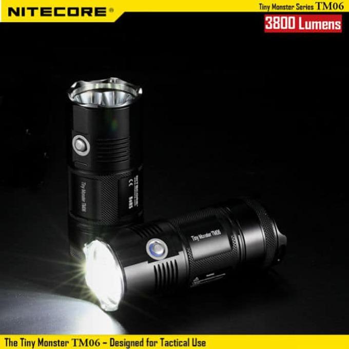 Фенер Nitecore TM06, 4x ICR18650 батерии, 3800 lumens, удароустойчив, водонепропускливост, за открито, черен image