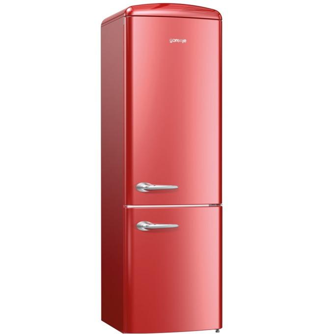 Хладилник с фризер Gorenje ORK 192 R, клас A++, 326 л. общ обем, свободностоящ, 234 kWh/годишно, AdaptTech, CrispZone, XXL SpaceBox, FreshZone, бордо image