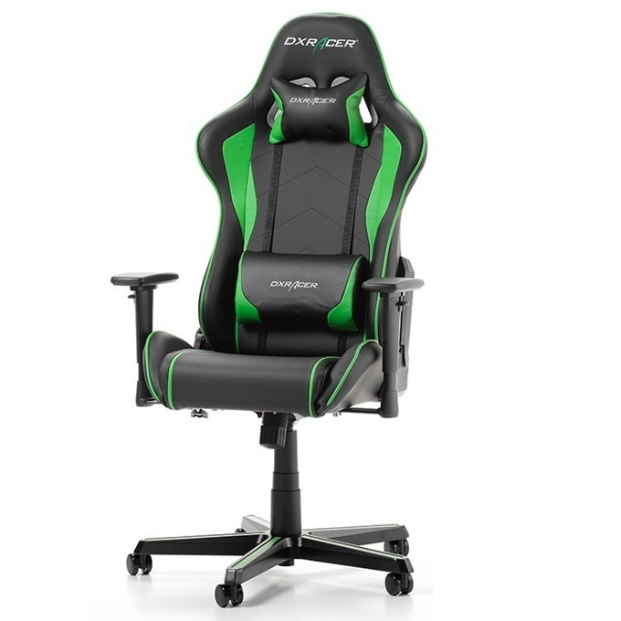 Геймърски стол DXRacer Formula OH/FH08/NE, черен/зелен image