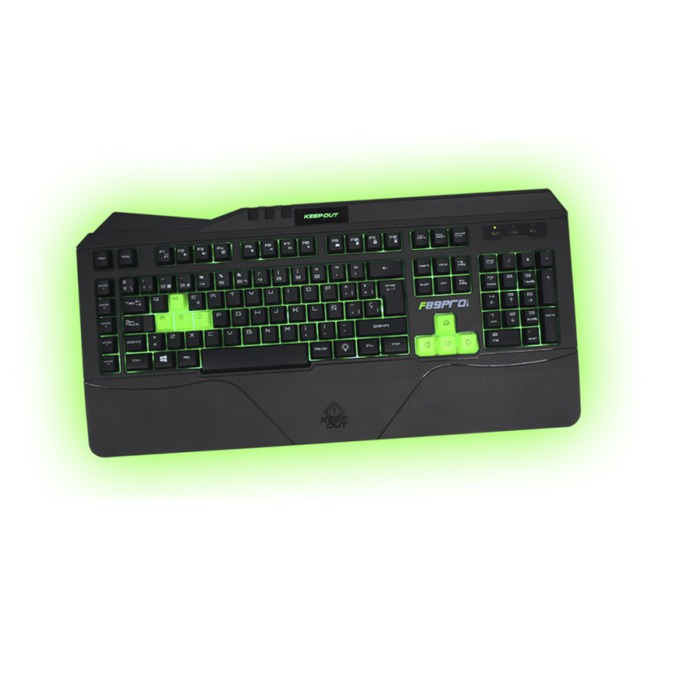 Клавиатура KEEPOUT F89CH, гейминг, 12 клавиша за мултимедиен контрол, 5 програмируеми клавиша за макроси, черна, USB image