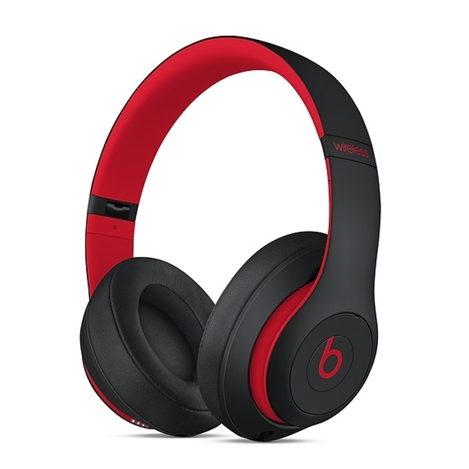 Слушалки Beats Studio3 Wireless Skyline Collection, Bluetooth, микрофон, до 40 часа работа, ANC, черни/червени image