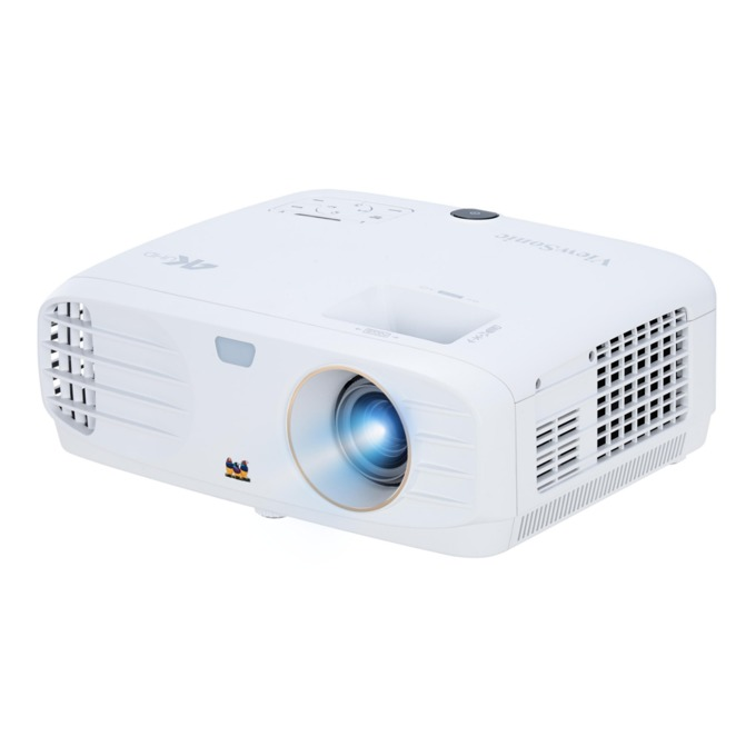 Проектор VIEWSONIC PX727-4K, DLP, 4K UHD(3840×2160), 12000:1, 2200 lm, VGA, HDMI, RS232, бял image