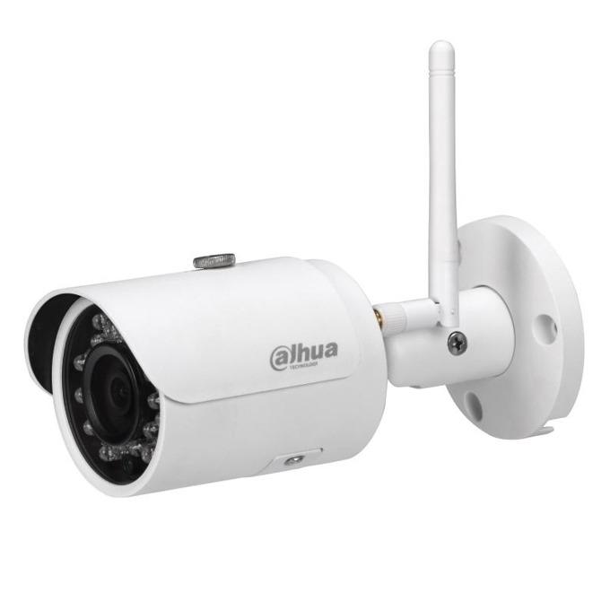"""IP камера Dahua IPC-HFW1320S-W-0360B, насочена """"bullet"""", 3 Mpix(2304x1536@20FPS), 3.6 mm обектив, H.264/H.264B/H.264H/MJPEG, IR осветеност(до 30 метра), IP67 защита от вода, PoE, безжична Wi-Fi(802.11b/g/n), RJ-45 image"""