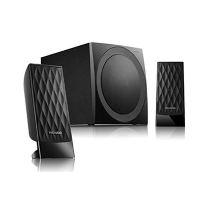 Тонколона Microlab M-300U, 2.1, 38W, USB/3.5mm stereo jack, черна, вграден FM тунер  image