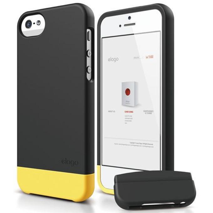 Поликарбонатов протектор Elago S5 Glide за iPhone 5, iPhone 5S, черен-мат image