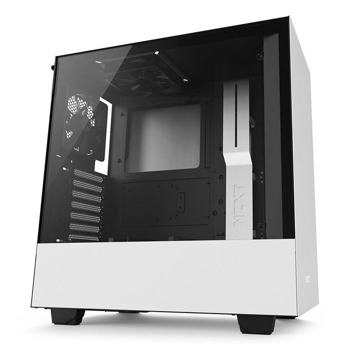 Кутия NZXT H500 CA-H500B-W1, ATX/mATX/mini-ITX, 2x USB 3.1 Gen1, страничен прозорец от закалено стъкло, бяла, без захранване image