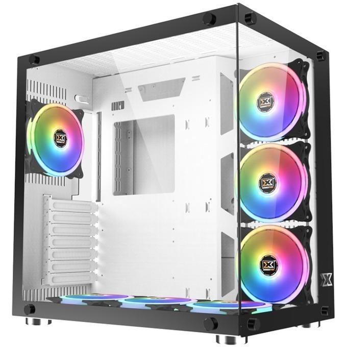 Кутия Xigmatek Aquarius Plus EN43354, ATX/Micro ATX/Mini ITX, 2x USB 3.0, прозорец, черна, без захранване image