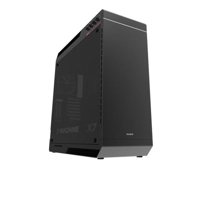 Кутия Zalman X7, ATX/mATX/mITX/eATX, 4x USB 3.0, 4x 120mm вентилатора, черна, без захранване image