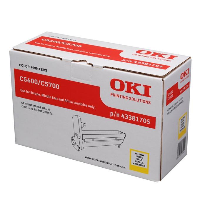 Drum Unit ЗА OKI C 5600/5700 - Yellow - P№ 43381705 - заб.: 20000k image